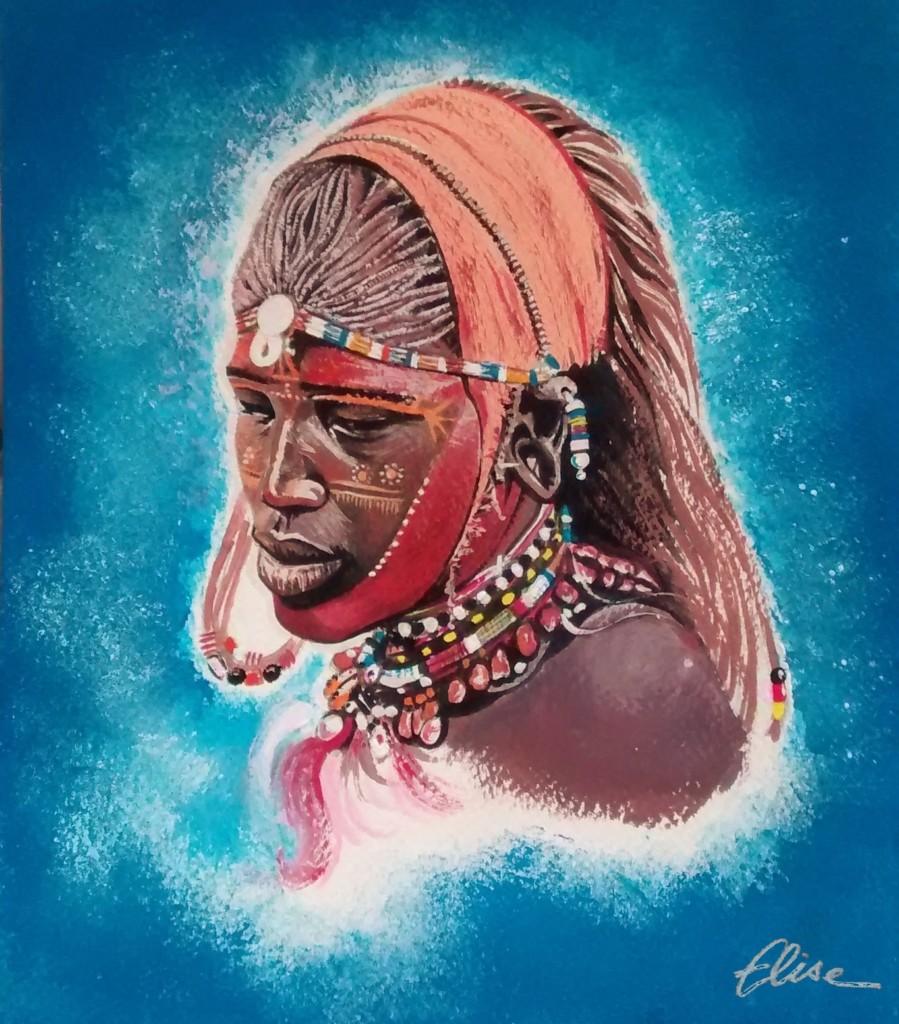 Portrait d 39 une femme masa le symbole d 39 un peuple en p ril - Dessin africaine ...